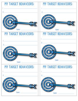 Target Behavior Cards