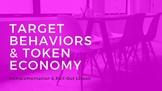Target Behavior and Token Economy PowerPoint