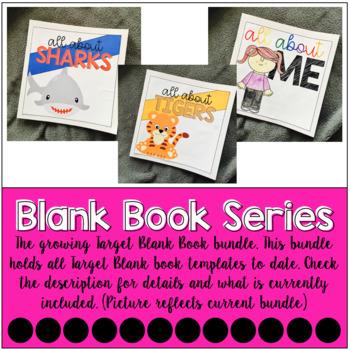 Target Blank Book Template GROWING BUNDLE