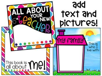 Target Blank Books Meet the Teacher