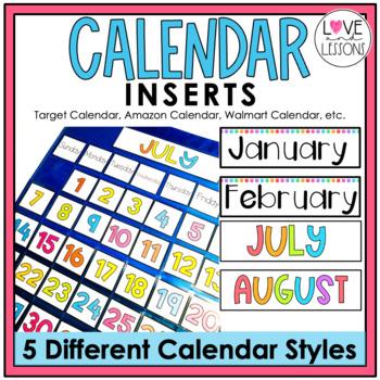 Target Calendar Inserts By Loveandlessons Teachers Pay Teachers
