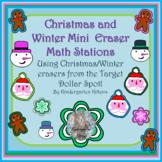 Target Winter and Christmas Mini-Eraser Math Activities! 2017 AND 2018