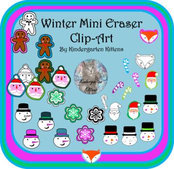 Target Christmas Mini Eraser Clip Art- 2017