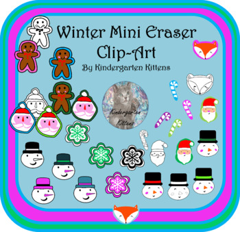 Target Christmas Mini Eraser Clip Art- 2017 and 2018
