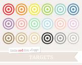 Target Clipart; Archery, Bullseye, Arrow