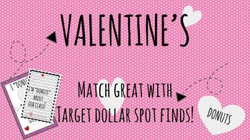 Target Dollar Spot Donut Eraser Valentines {Editable}
