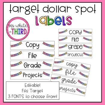 Target Dollar Spot Labels (LONG & Editable!)