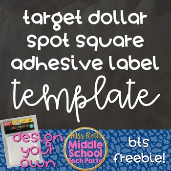target dollar spot square adhesive labels template by middle school