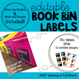 Target & Dollar Tree Book Bin Labels - Editable and Bright