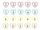 Target Felt Hearts: Colors & Counting 1-5