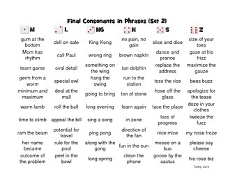 Target Final Consonant Deletion in Phrases and Sentences