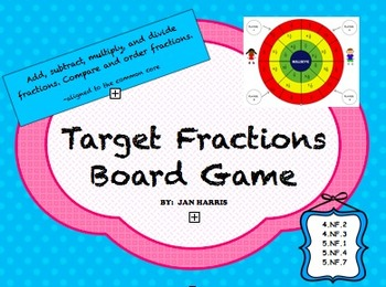 Target Fractions Board Game
