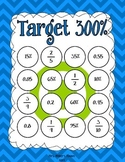 Target - Fractions, Decimals, and Percents Game