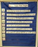 Target Goal Heading and Grade Numbers for Blue Teacher Chart