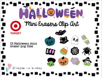 Target Halloween Mini Eraser Clipart