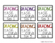 Target Label Inserts- FREEBIE- LANGUAGE ARTS TASK CARD EDITION