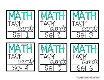 Target Adhesive Label Inserts- FREEBIE- MATH TASK CARD EDITION