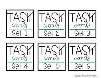 Target Adhesive Label Inserts- FREEBIE- TASK CARD EDITION
