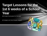 Target Lessons/Bell Ringers for 6th grade Social Studies Weeks 1-6