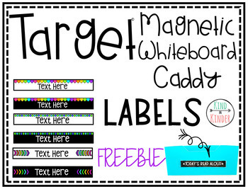 Target Magnetic Caddy: Long *EDITABLE* Labels Dollar Spot Purchase