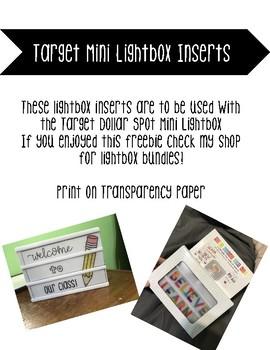 Target Mini Lightbox Inserts