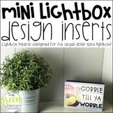 Target Mini Lightbox Inserts EDITABLE