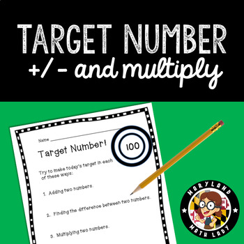 Target Number - 3rd -5th grade Number Sense Routine