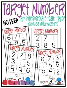 Target Number {Intermediate Math Game}