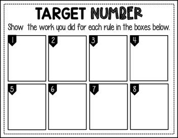 Target Number: Math Number Talks