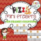 Target Pizza Mini Eraser Ten Frames Counting Activity