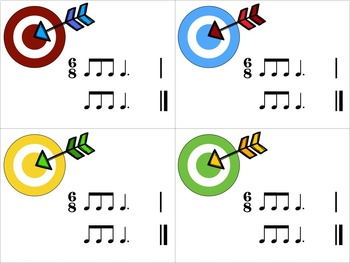 Target Practice!  A Rhythm Game to Practice Decoding {6/8 meter}