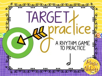 Target Practice!  A Rhythm Game to Practice Decoding {half note}