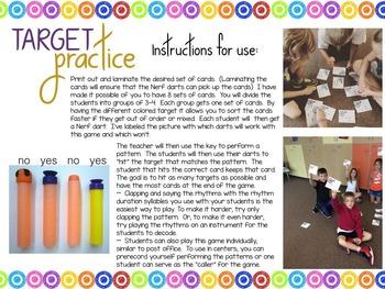 Target Practice!  A Rhythm Game to Practice Decoding {ti-tam/ti-tom}