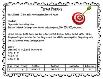 Target Practice: No Prep Math Fact Fluency Practice Game