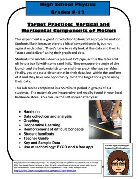 Target Practice:  Vertical and Horizontal Components of Motion