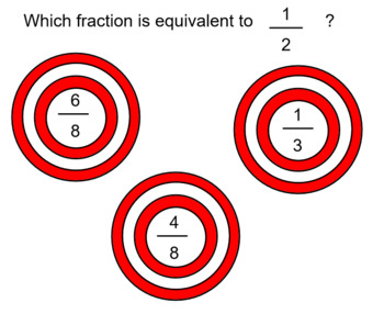 Target Practice with Equivalent Fractions