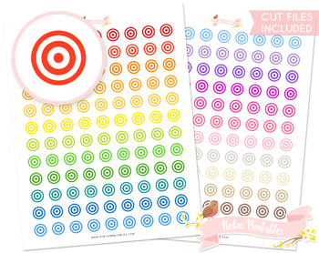 graphic relating to Printable Archery Targets named Focus Printable Planner Stickers