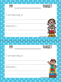 Learning Target Posters- Suitable for ANY subject!