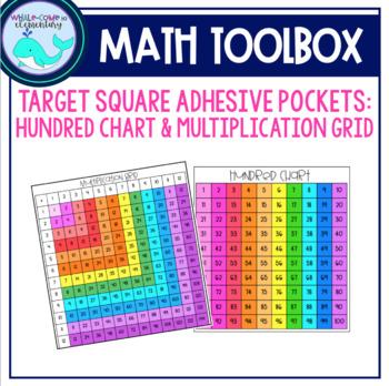 Target Square Pockets Hundred Chart & Multiplication Grid