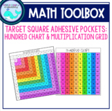 Target Square Pockets Hundred Chart & Multiplication Grid
