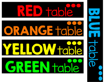 Target Supply Rectangular Table Numbers