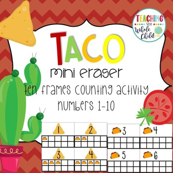 Target Taco Mini Eraser Ten Frame Counting Activity