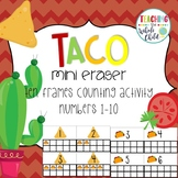 Target Taco Mini Eraser Ten Frame Counting Activity