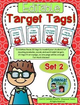 Target Tag Brag Tags: Editable Set 2