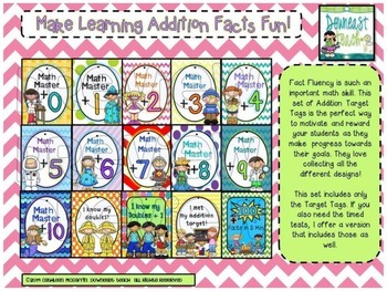 Target Tags Brag Tags: First Grade Math Bundle