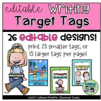 Target Tags/Brag Tags: Writing Targets
