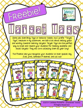 Target Tag Brag Tags FREEBIE: Birthday Boy or Girl