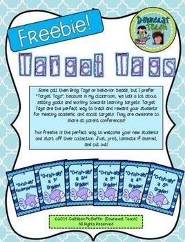 "Target Tag Brag Tags FREEBIE: ""O-fish-ally"" a ____ Grader!"