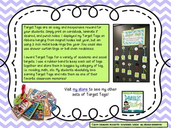 Target Tag Brag Tags: Subtraction Facts (Tags Only Version)