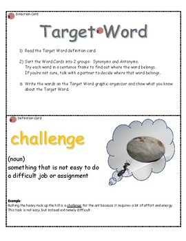 Target Word: Challenge